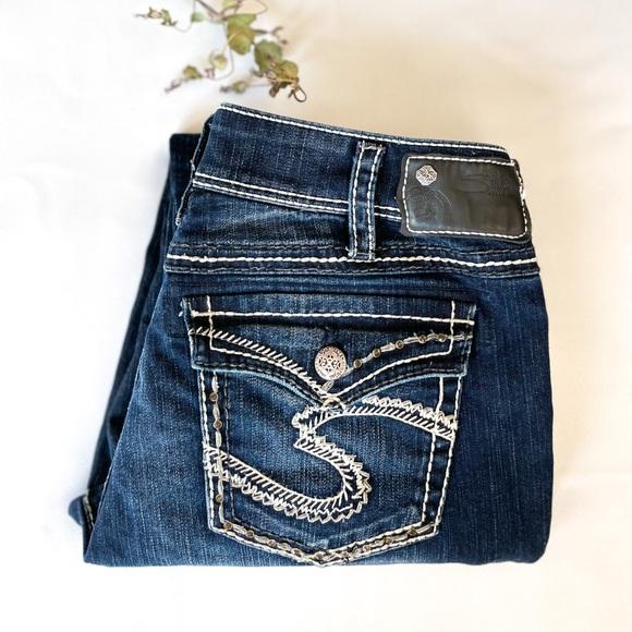 32x30 SUKI Silver Jeans